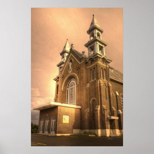 HDR - iglesia católica de Charlo Impresiones