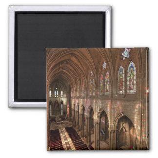 HDR image of Basilica interior, Quito, Ecuador 2 Inch Square Magnet