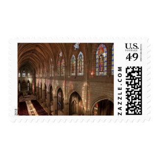 HDR image of Basilica interior, Quito, Ecuador Stamp