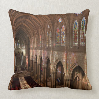 HDR image of Basilica interior, Quito, Ecuador Throw Pillow