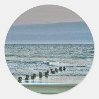 HDR Ocean Beach Seagul Stickers