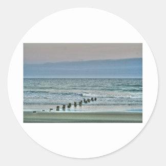 HDR Ocean Beach Seagul Sticker