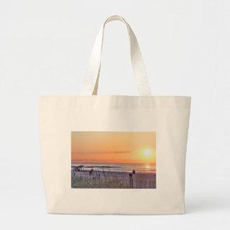 HDR Ocean Beach Sunrise  Seascape Sun Oceanview Canvas Bags