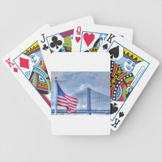 HDR Patriotic American Flag Bridge Photo Picture Bicycle Playing Cards
