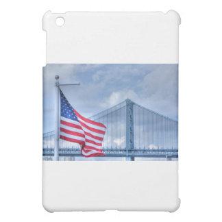 HDR Patriotic American Flag Bridge Photo Picture iPad Mini Covers