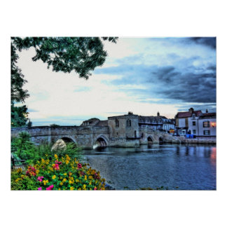 HDR Photography Print of bridge in St. Ives