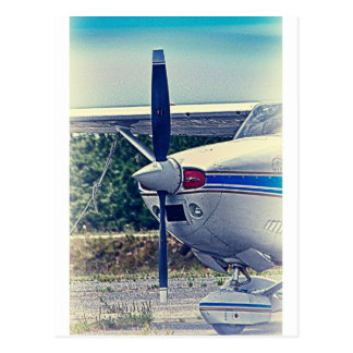 HDR Plane Airplane Propeller Design Photo Picture Postcard