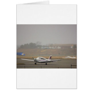HDR Plane Foggy Background Greeting Card