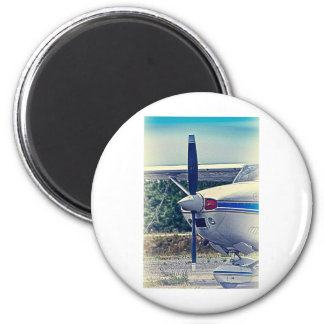 HDR Plane Propeller Closeup 2 Inch Round Magnet