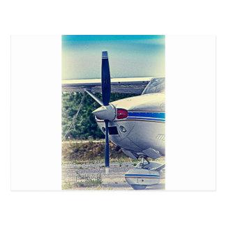 HDR Plane Propeller Closeup Postcard