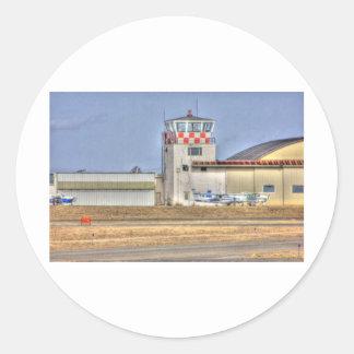HDR Planes Distance Under Control Tower Sticker