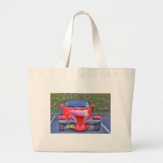 HDR Red Plymouth Prowler Parked Ready to Go Canvas Bags
