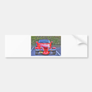 HDR Red Plymouth Prowler Parked Ready to Go Bumper Stickers