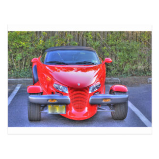 HDR Red Plymouth Prowler Parked Ready to Go Postcard