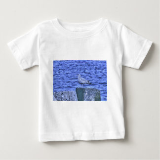 HDR Seagull on Rock Pylon Baby T-Shirt