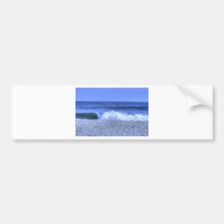 HDR Seagull Skimming Ocean Waves Bumper Sticker