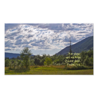 HDR Summer Scene with Clouds w/Scripture Verse Photo Print