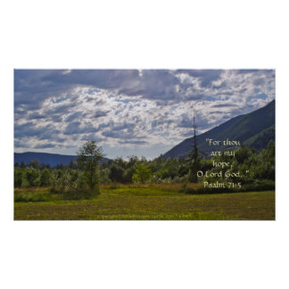 HDR Summer Scene with Clouds w/Scripture Verse Poster