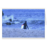 HDR Surfer Holding Body Board Cards