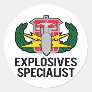 HDS Explosives Specialist Classic Round Sticker
