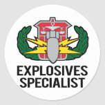 HDS Explosives Specialist Stickers