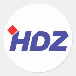 HDZ Hrvatska Demokratska Zajednica Classic Round Sticker