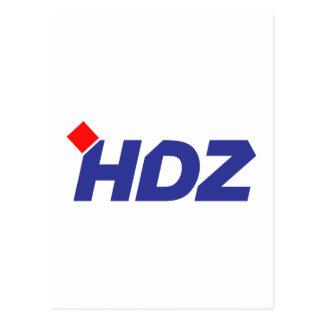 HDZ Hrvatska Demokratska Zajednica Postcard