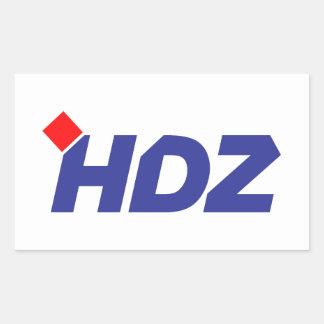 HDZ Hrvatska Demokratska Zajednica Rectangular Sticker