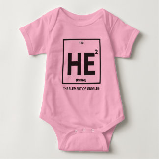 HE2 (hehe) - the element of giggles Baby Bodysuit