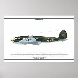 He-111 KG55 1 Póster