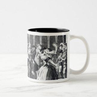 He and His Drunken Companions Raise Two-Tone Coffee Mug