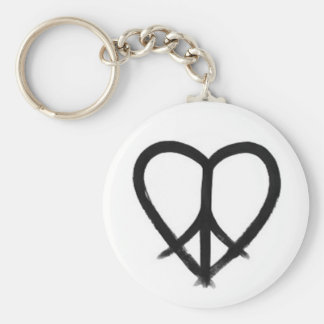 HE(ART) of Peace Basic Round Button Keychain
