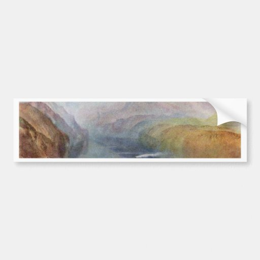 he Bay Of Baia With Apollo And The Sibyl By Turner Car Bumper Sticker