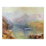 """he Bay Of Baia With Apollo And The Sibyl By Turner 4.25"""" X 5.5"""" Invitation Card"""