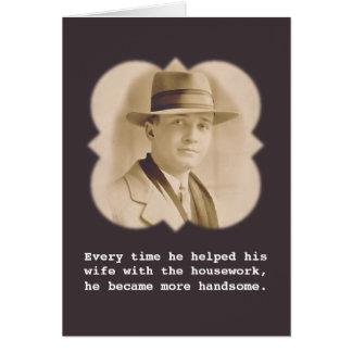 He became more handsome Vintage Photo Card