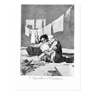 He broke the pitcher by Francisco Goya Postcard
