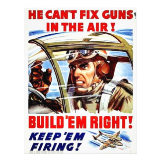 """He Can't Fix Guns In The Air 8.5"""" X 11"""" Flyer"""