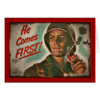 He Comes First WWII Food Rationing Card