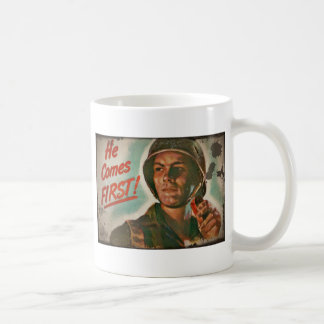He Comes First WWII Food Rationing Coffee Mug