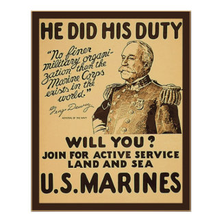He Did His Duty ~ Vintage WW1 Poster