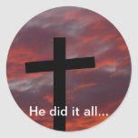 He did it all... stickers