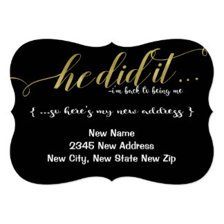 He Did It DIVORCE New Name & Address Announcement