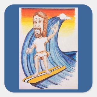 He didn't always walk on water! square sticker