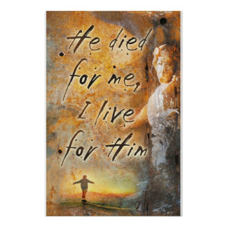 HE DIED FOR ME - Jesus Christ Religious Poster