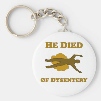 He Died Of Dysentery Basic Round Button Keychain