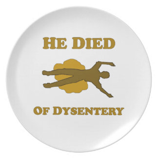 He Died Of Dysentery Plate