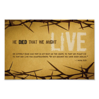 He Died that We Might Live Art Poster
