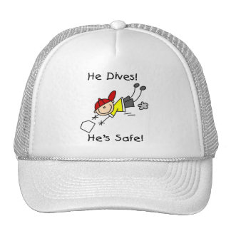 He Dives He's Safe Tshirts and Gifts Mesh Hats