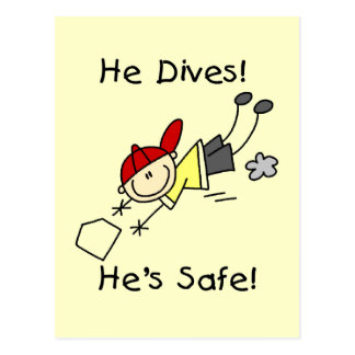 He Dives He's Safe Tshirts and Gifts Postcard
