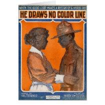 He Draws No Color Line Card